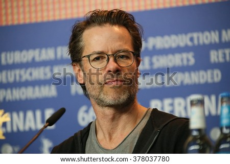 Guy Pearce  attends the 'Genius' press conference during the 66th Berlinale International Film Festival Berlin at Grand Hyatt Hotel on February 16, 2016 in Berlin, Germany. - stock photo