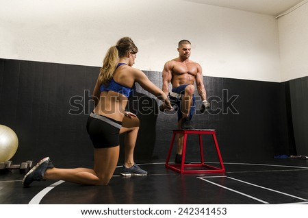 guy step up with trainer