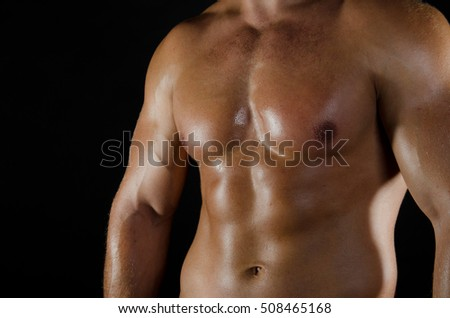 Guy with sexy body.