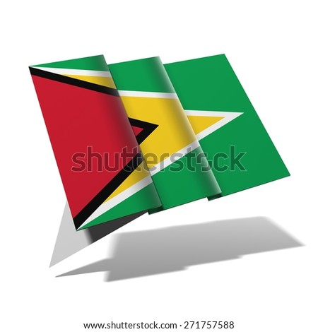 Guyana flag 3D banner - stock photo
