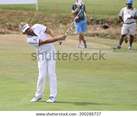 GUYANCOURT , FRANCE, JULY 05, 2015 : Victor Dubuisson  (fra) During the fourth round of the French Open, European golf tour, July 05, 2015 at The golf National, Guyancourt, France.