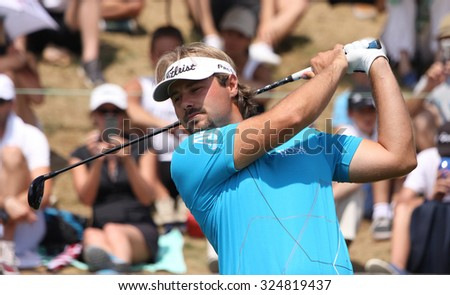 GUYANCOURT , FRANCE, JULY 04, 2015 : Victor Dubuisson  ( fra ) During the third round of the French Open, European golf tour, July 04, 2015 at The golf National, Guyancourt, France.