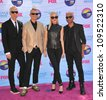 Gwen Stefani & her group No Doubt at the 2012 Teen Choice Awards at the Gibson Amphitheatre, Universal City. July 23, 2012  Los Angeles, CA Picture: Paul Smith / Featureflash - stock photo