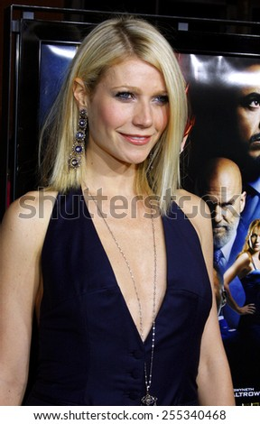 "Gwyneth Paltrow attends the Los Angeles Premiere of ""Iron Man"" held at the Grauman's Chinese Theater in Hollywood, California, United States on April 30, 2008."