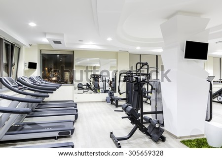Gym and fitness club interior