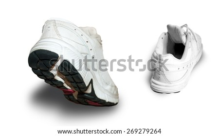 Gym shoes - stock photo