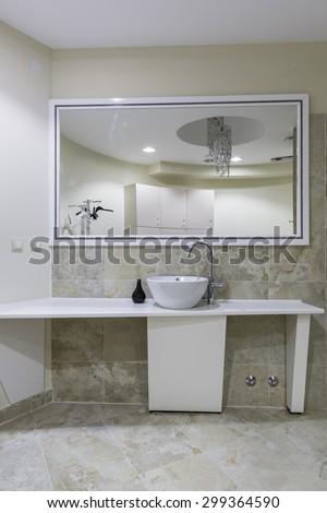 Gym toilet - stock photo