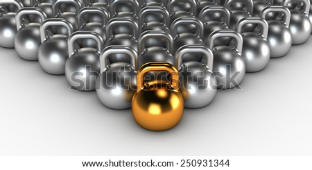 Gym weight kettle bells - stock photo