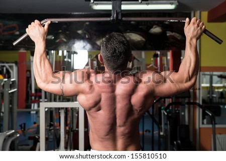 Gym Workout For Back - stock photo