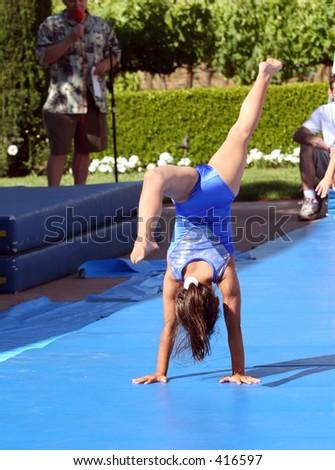 Gymnast - stock photo