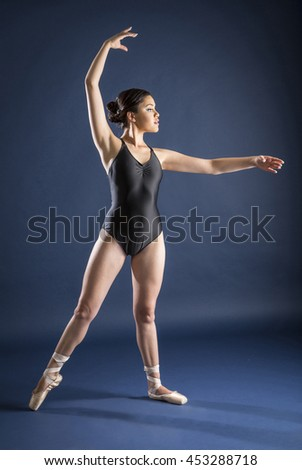 Gymnast and dancer performing actions. Acrobatic gymnastic.