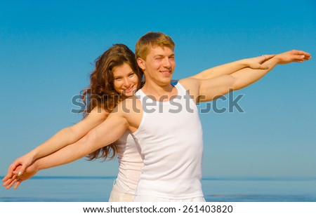 Gymnastics Resort Couple  - stock photo