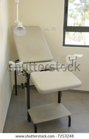 Gynecologic armchair. The medical center - stock photo
