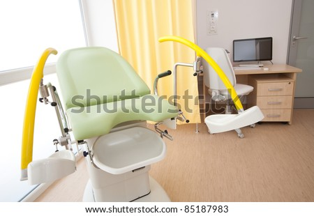 Gynecological bed - stock photo