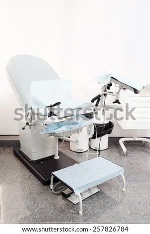 Gynecological chair. Gynecological room - stock photo