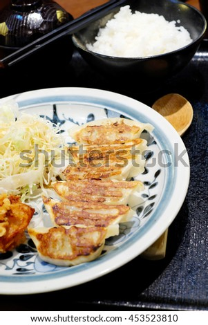 Gyoza sets Japanese - stock photo