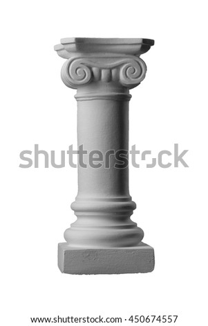 Gypsum plaster capitals, pilasters, pommel and the base of the column.