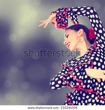 Gypsy dancer - stock photo