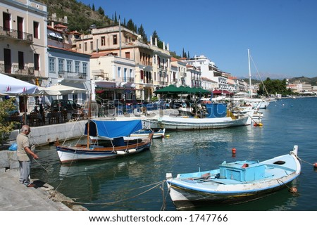 gythion habour in greece