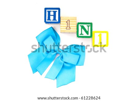 H1N1 Flu Awareness Background - stock photo