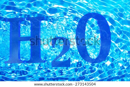 h2o water - stock photo