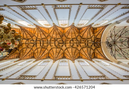 HAARLEM, NETHERLANDS - APRIL 12: Interior of the Saint Bavo Church on April 12, 2016 in Haarlem. Home to the ornate Muller organ, played by both Handel & Mozart.