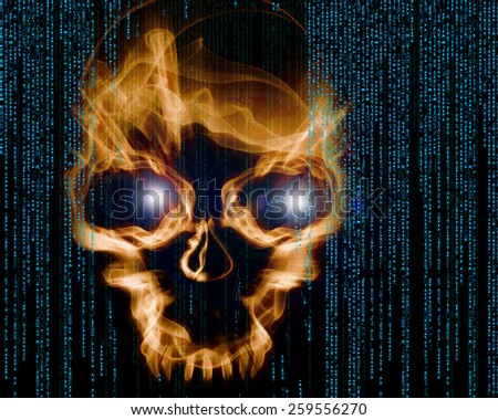 hacker attack  - stock photo
