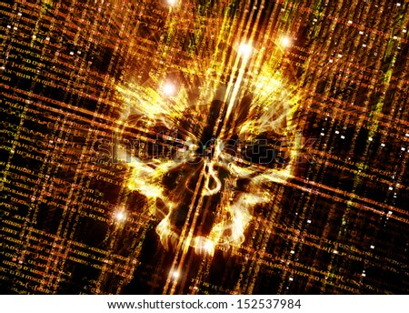 hacker attack concept digital illustration - stock photo