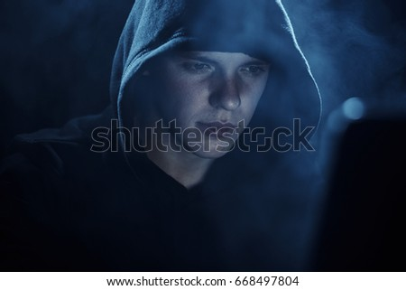 Hacker in the hood
