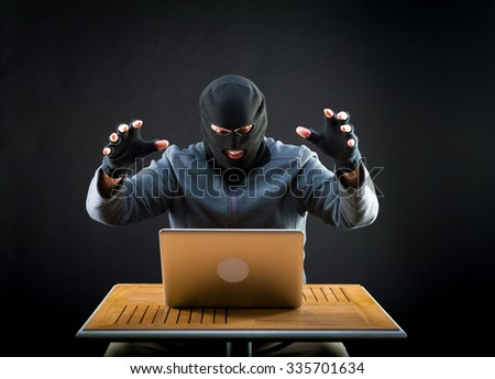 Hacker is ready to start hacking laptop