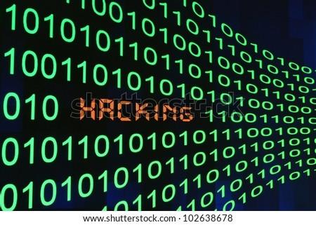 Hacking - stock photo