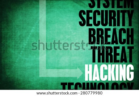 Hacking Computer Security Threat and Protection - stock photo