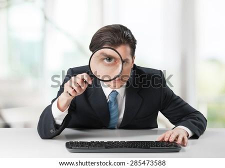 Hacking, data, information. - stock photo