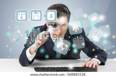 Hacking internet. - stock photo