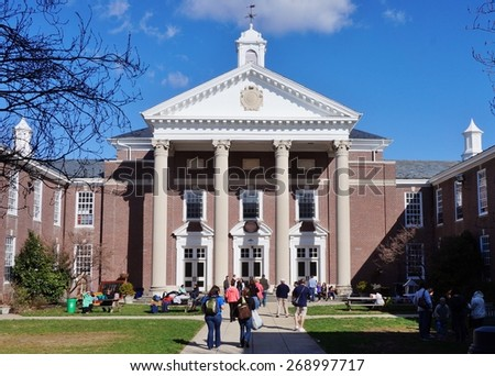 HADDONFIELD, NJ -11 APRIL 2015- Founded in 1926, Haddonfield Memorial High School was the second-ranked public high school in New Jersey by NJ Monthly Magazine in 2014.