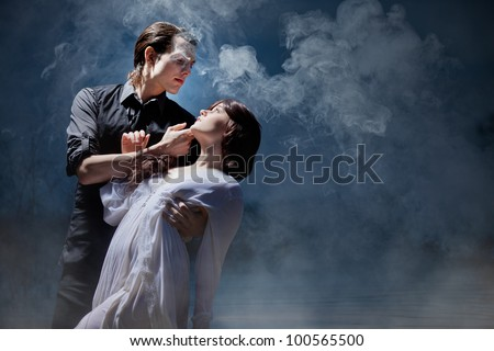 Hades & Persephone: The Encounter - stock photo