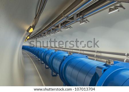 Hadron Collider - stock photo