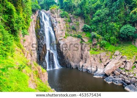 Haew Narok waterfall at national park, Thailand. - stock photo