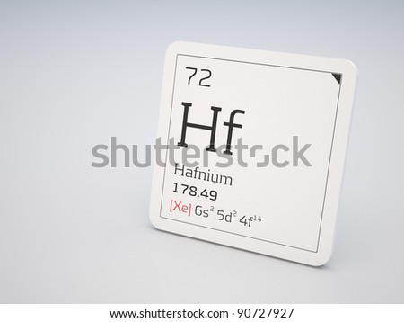 Hafnium - element of the periodic table