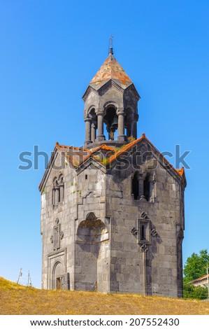 Haghpatavank (Haghpat Monastery), a medieval Armenian monastery complex in Haghpat, Armenia. It's a UNESCO World Heritage site - stock photo