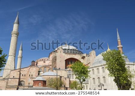 Hagia Sophia Exterior, Istanbul, Turkey - stock photo
