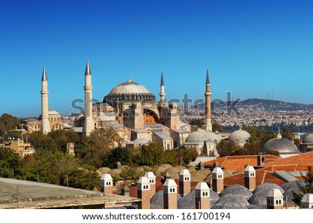 Hagia Sophia in Istanbul, Turkey - stock photo