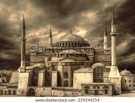 Hagia Sophia in Istanbul, Turkey. - stock photo
