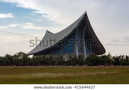 HAI PHONG, VIETNAM, August 28, 2015 Building, architecture shaped kite. The port city of Hai Phong, Vietnam