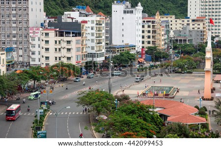 HAI PHONG, VIETNAM, June 19, 2016 the town, Cat Ba Bay, the coastal city of Hai Phong, Vietnam