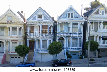 Haight Asbury Homes - stock photo