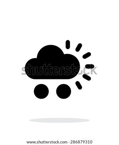 Hail weather simple icon on white background. - stock photo