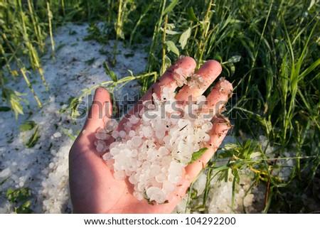 hailstorm - stock photo
