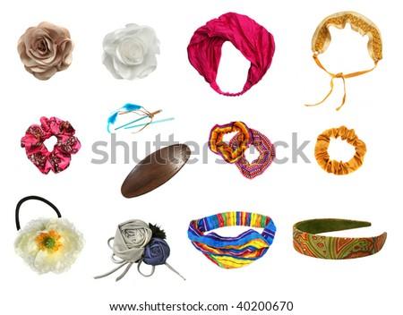 Hair accessories set - stock photo