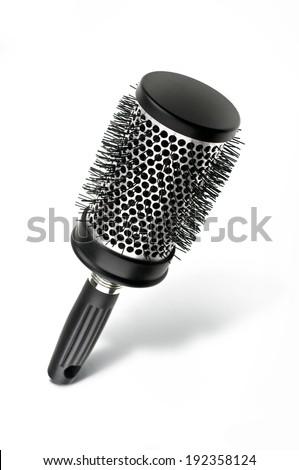 hair brush isolated on white background - stock photo